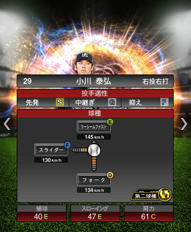 2018-Series2-小川泰弘-投手適性-第二球種