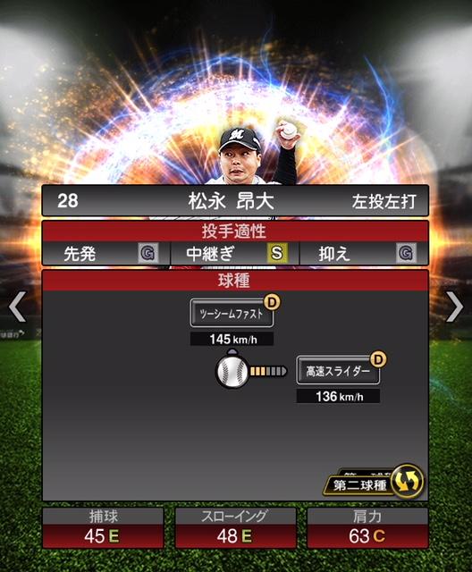 2018-Series2-松永昴大-投手適性-第二球種