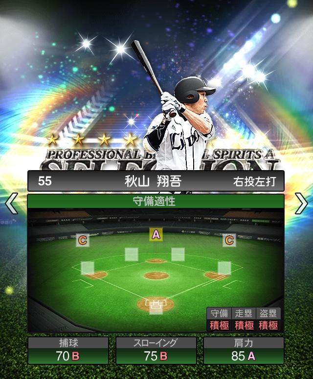 2018-Series1-秋山翔吾-守備適正