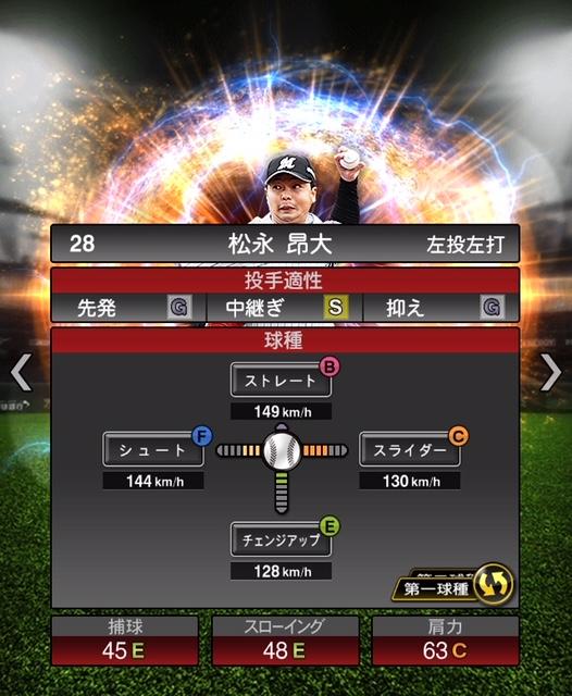 2018-Series2-松永昴大-投手適性-第一球種