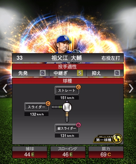 2018-s2-祖父江大輔-投手適性-第一球種