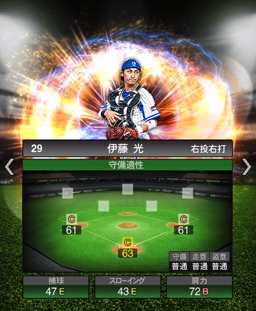 2018-Series2-伊藤光-守備適性