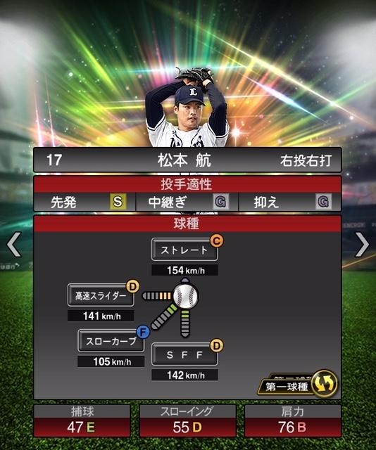 2019-s1-松本航-投手適性-第一球種