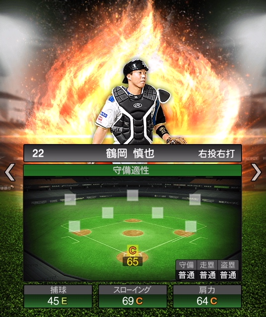 2019-s1-鶴岡慎也-守備適性