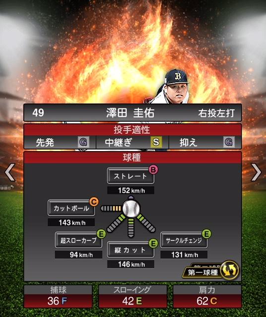 2019-s1-澤田圭佑-投手適性-第一球種