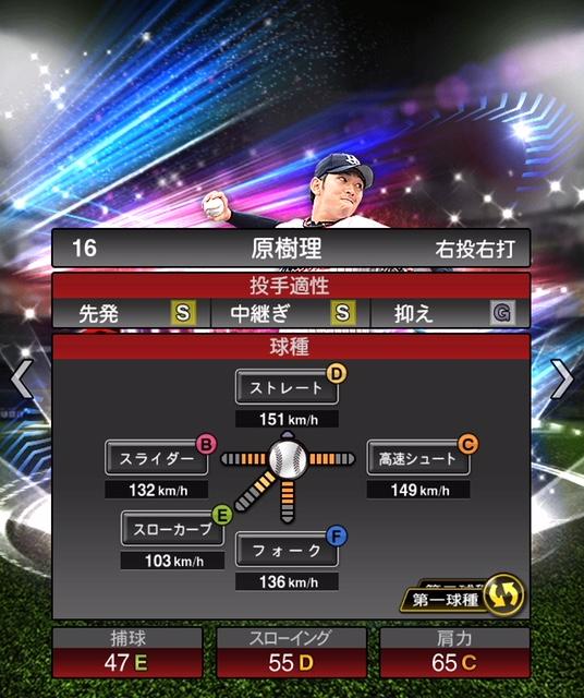 2019-ex-原樹理-投手適性-第一球種