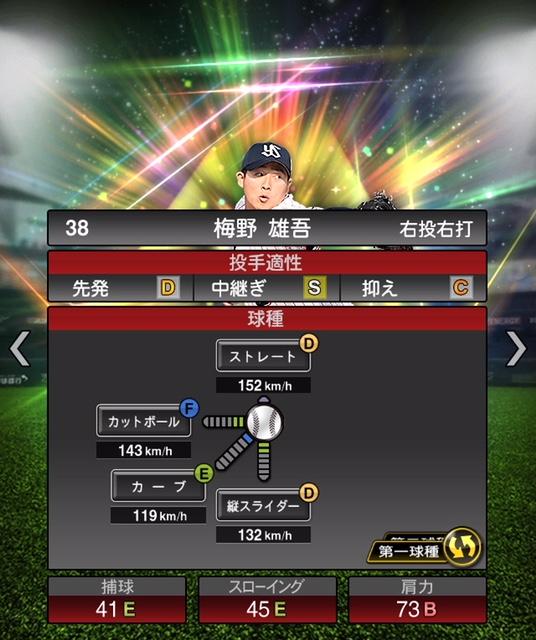 2019-s1-梅野雄吾-投手適性-第一球種