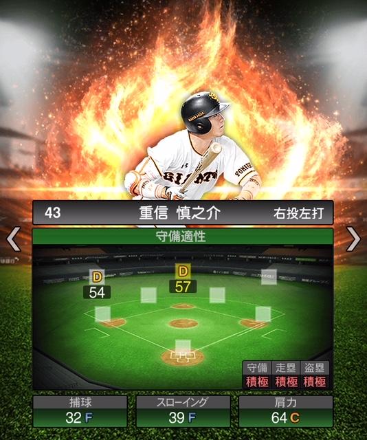 2019-s1-重信慎之介-守備適性