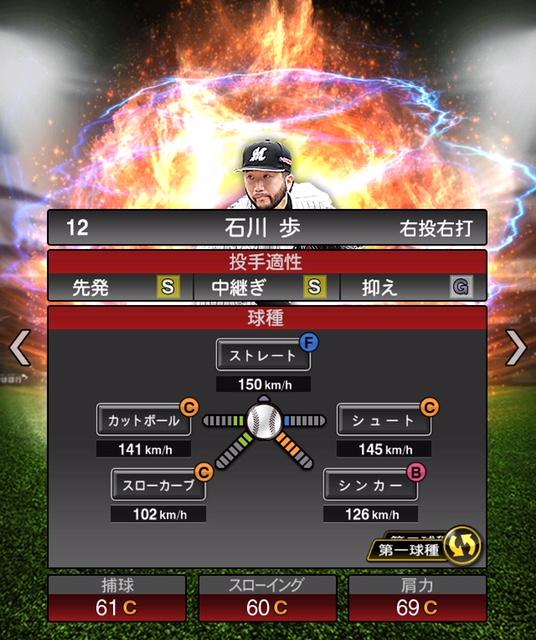 2019-s2-石川歩-投手適性-第一球種