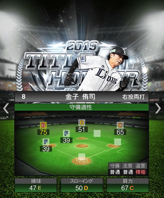 2019-th-金子侑司-守備適性
