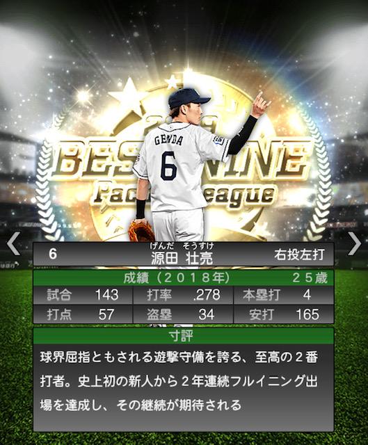 2019-b9-源田壮亮ー寸評