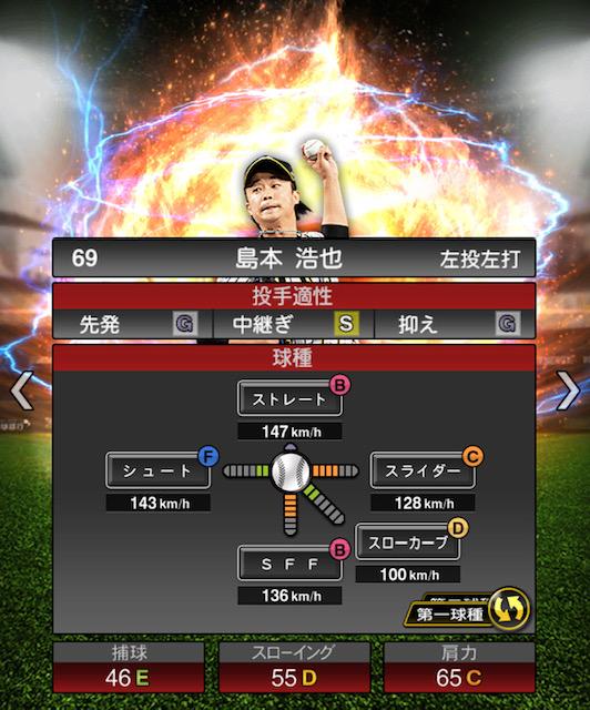 2019-s2-島本浩也-投手適性-第一球種