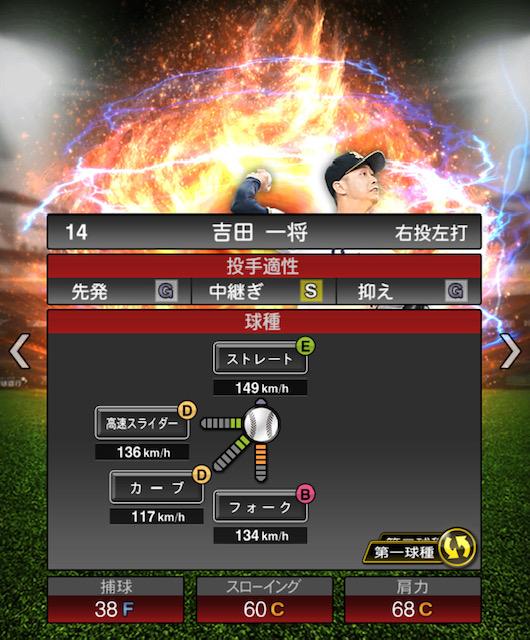 2019-s2-吉田一将-投手適性-第一球種