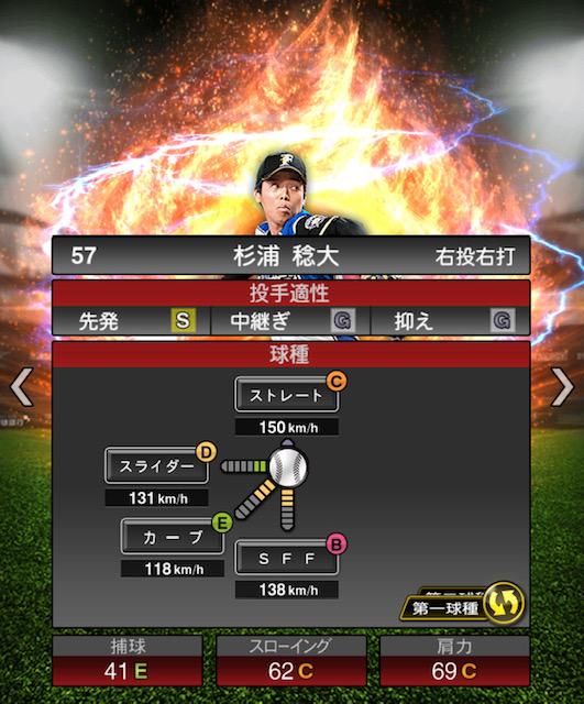 2019-s2-杉浦稔大-投手適性-第一球種