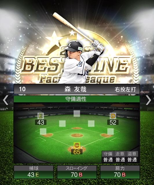 2019-b9-森友哉-守備適性