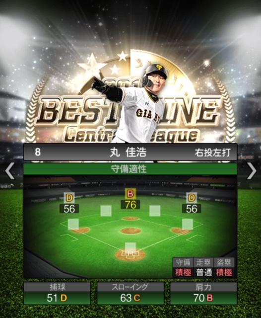 2019-b9-丸佳浩-守備適性