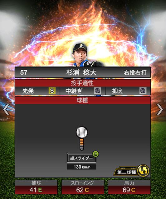 2019-s2-杉浦稔大-投手適性-第二球種