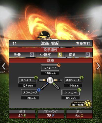 2020-s−津森宥紀−投手適性−第一球種