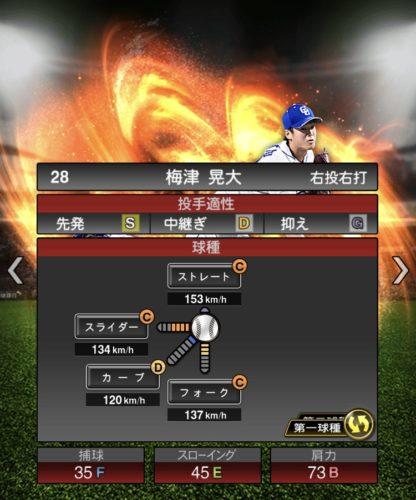 2020-s1−梅津晃大−投手適性−第一球種