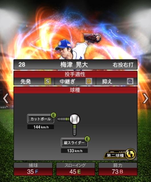 2020-s2−梅津晃大−投手適性−第二球種