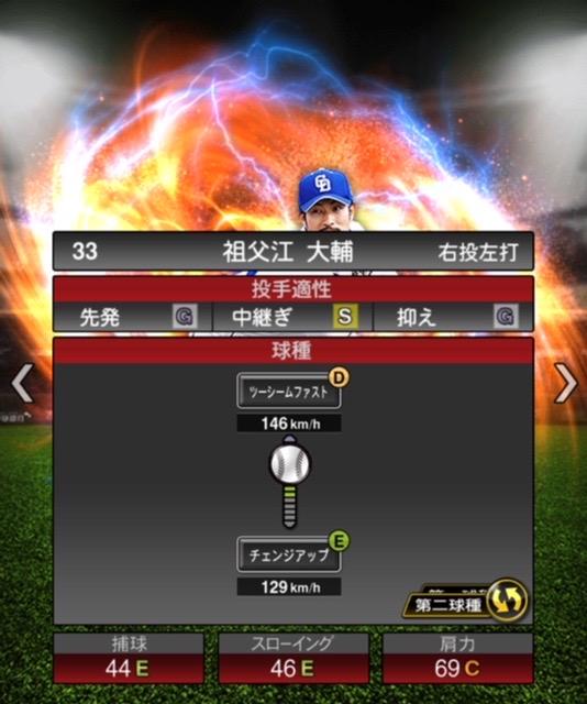 2020-s2−祖父江大輔−投手適性−第二球種
