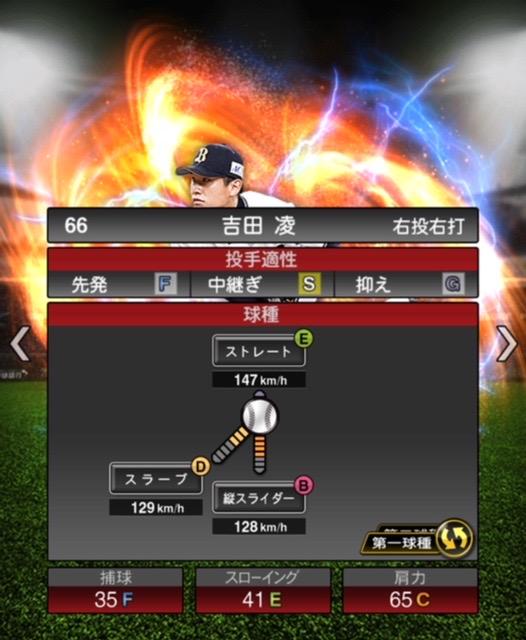 2020-s2−吉田凌−投手適性−第一球種