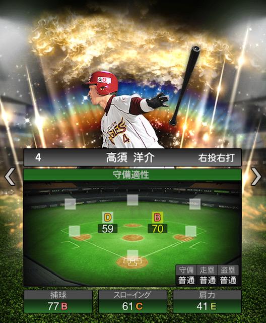 プロスピ-高須洋介-守備力